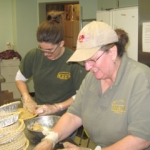 MASH team helping the Grayling Kiwanis Club make pies for their annual fund raising project.