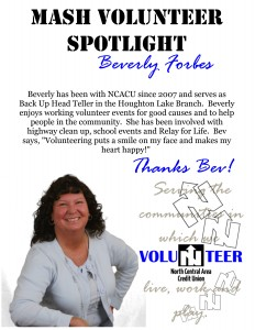 Volunteer Spotlight Bev
