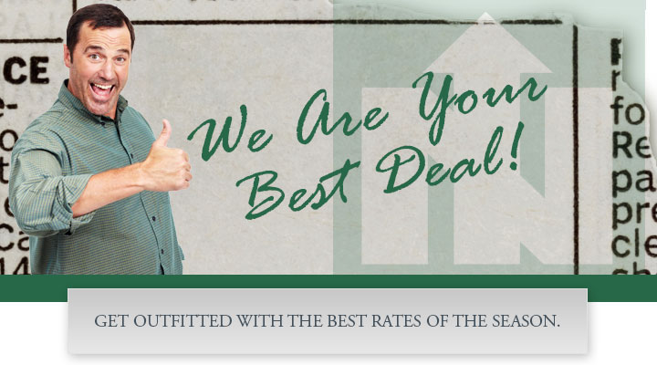 We are your best deal!